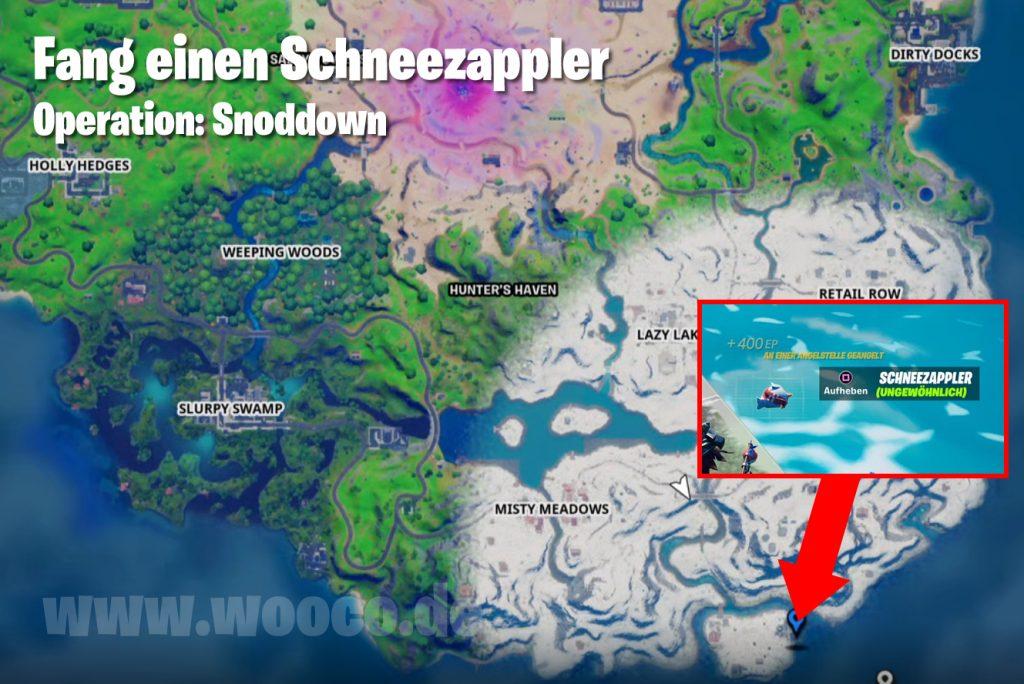 Schneezappler Map Fundort