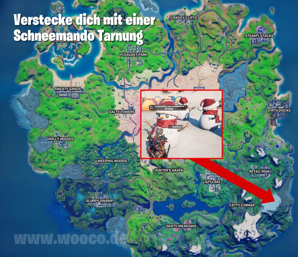 Fortnite Schneemando Tarnung Map