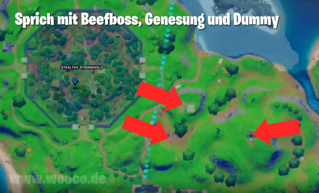Beefboss und Gegensung Orte Map Fortnite
