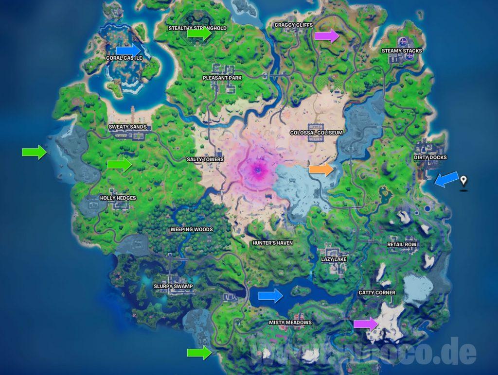 Fortnite Münzen Woche 7 Map