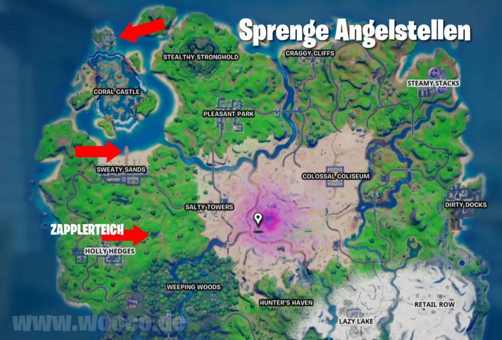 Fortnite Angelstellen Map