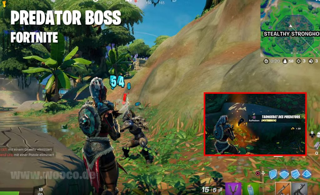 Fortnite Predator Boss Map