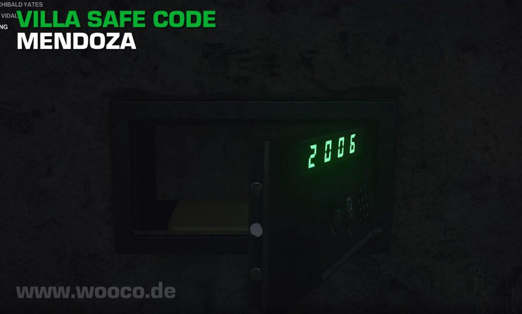 Hitman 3 Villa Mendoza Safe Code