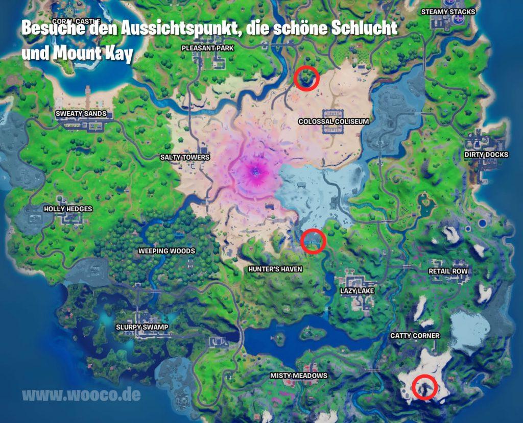 Fortnite Aussichtspunkt und Schlucht Map