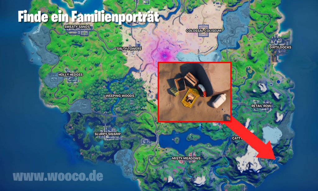 Familienporträt Fortnite Map