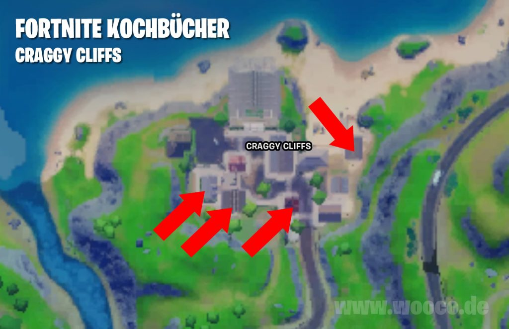 Fortnite Kochbücher Craggy Cliffs Map