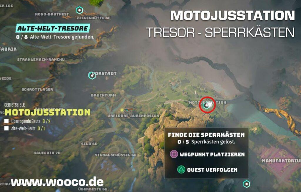 Tresor Gerät Motojusstation