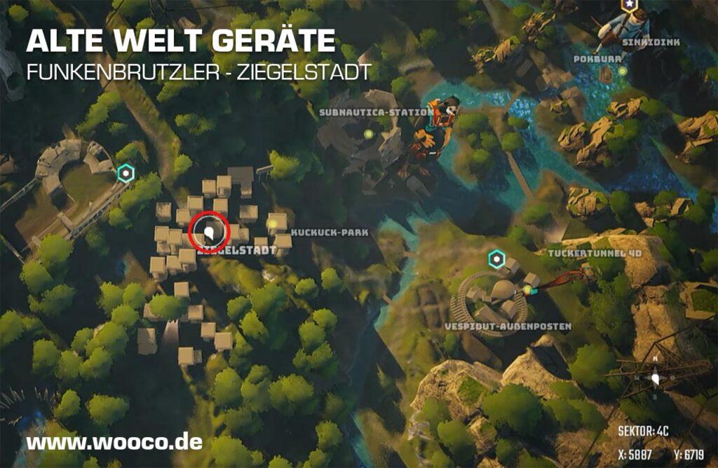 Ziegelstadt Funkenbrutzler Map