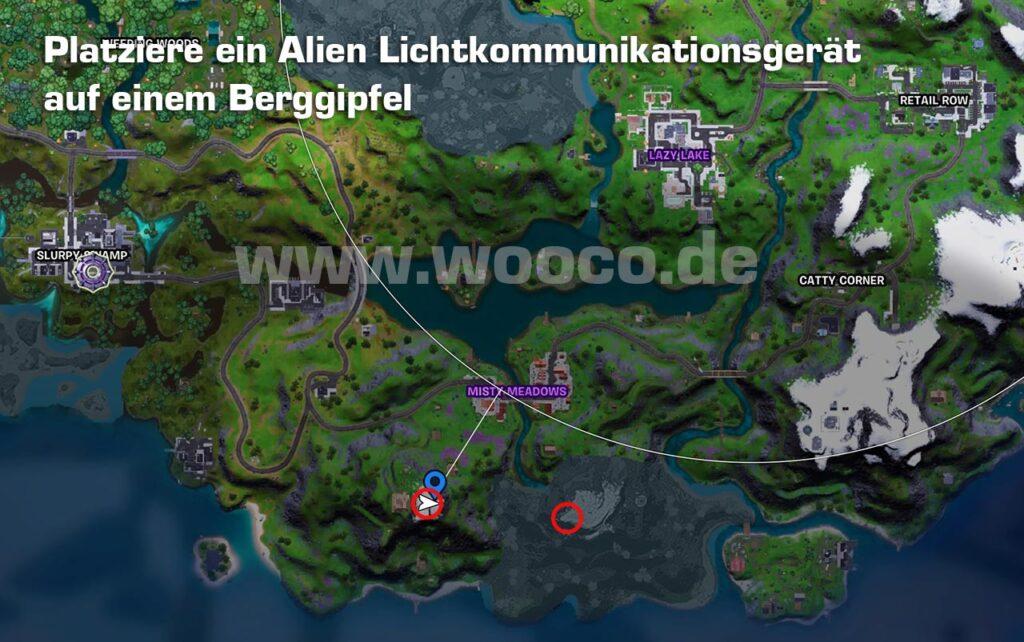 Alien Berggipfel Fortnite Map