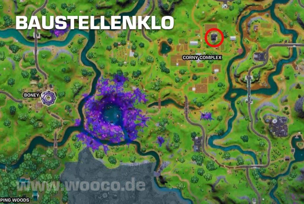Baustellenklo Fortnite Map