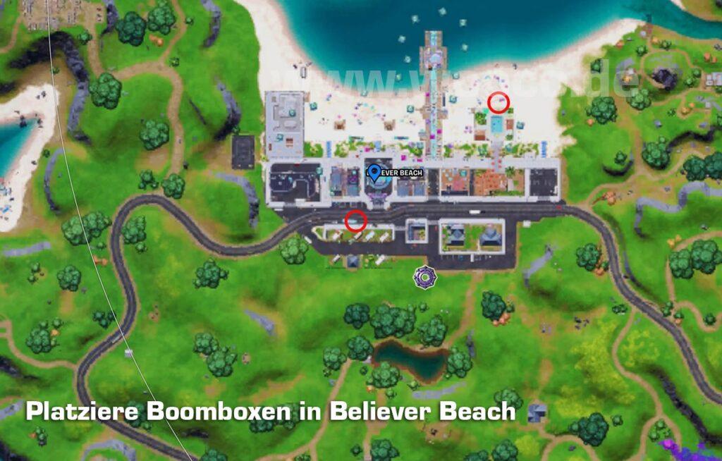 Boomboxen Fortnite Map Fundorte