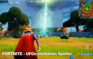 Fortnite UFOs beamen Spieler weg