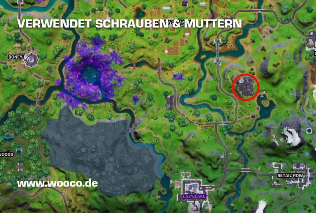 Fortnite Schrauben und Muttern Map