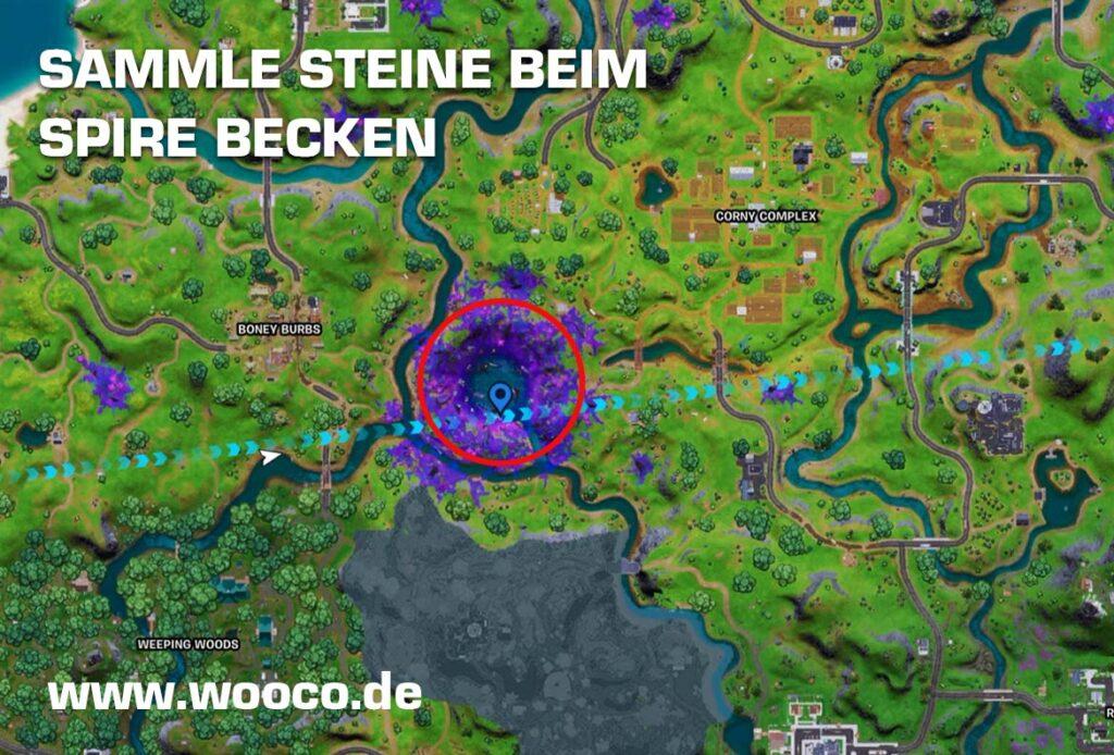 Spire Becken Fortnite Map