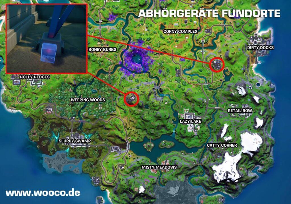 Abhörgeräte Fortnite Map