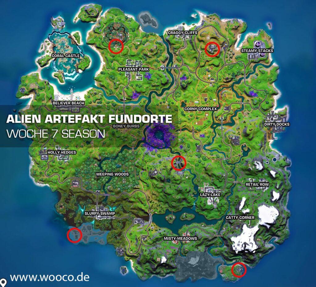 Alien Artefakt Woche 7 Map