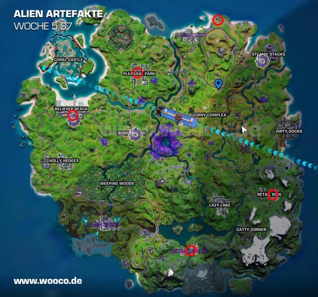 Alien Artefakte Woche 5 Map
