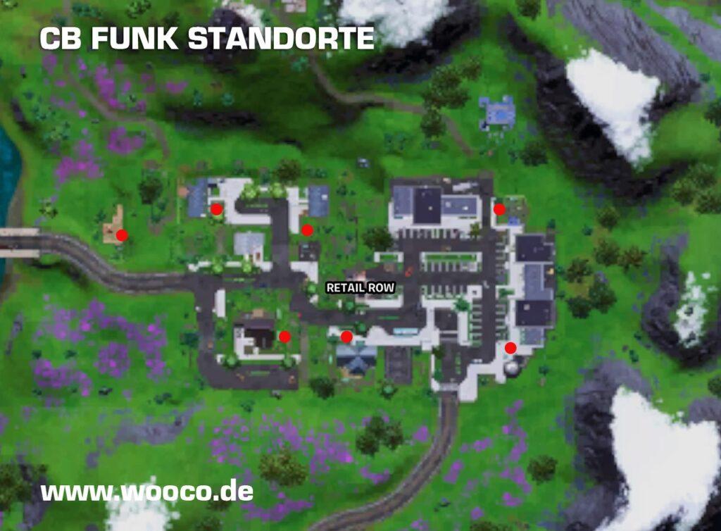 CB Funk Standorte auf der Map