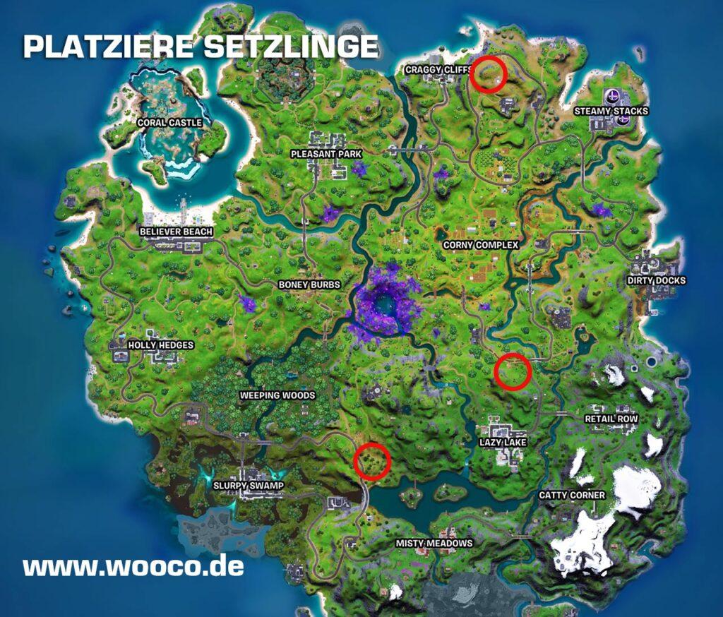 Fortnite Setzlinge Map