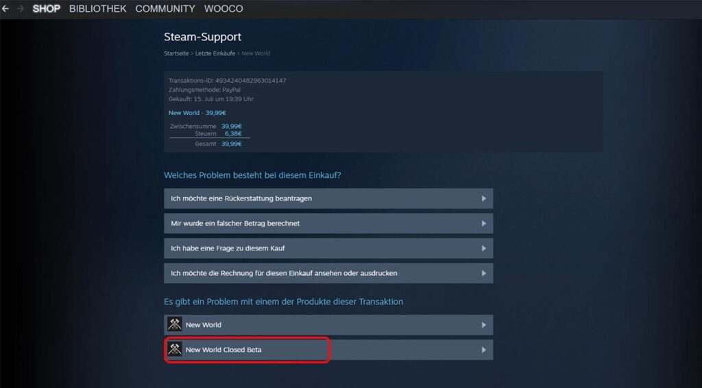 New World Steam Beta Zugang 01