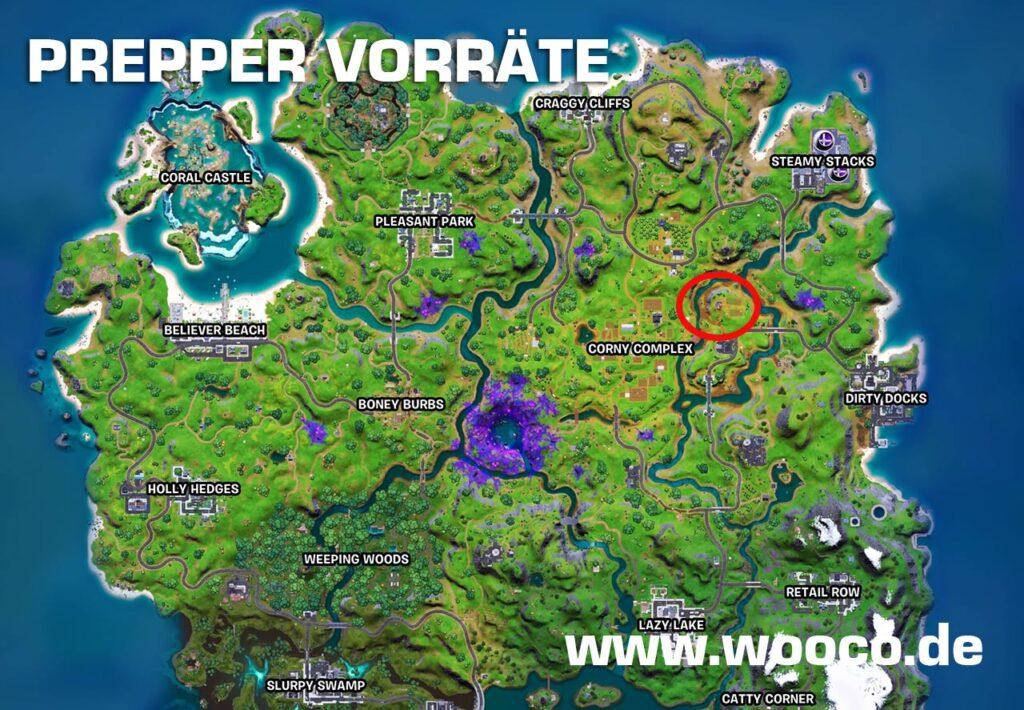 Prepper Vorräte Map Woche 6