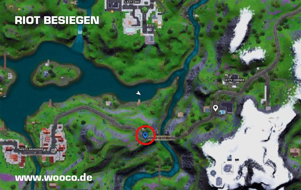 Riot Standort Fortnite Map