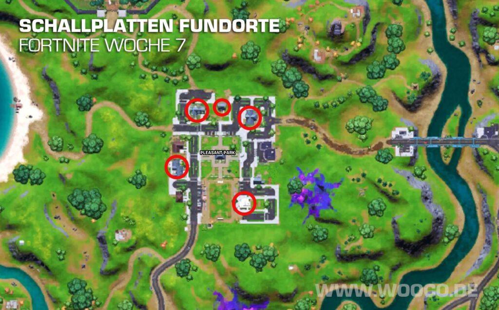 Schallplatten Fundorte Map Fortnite