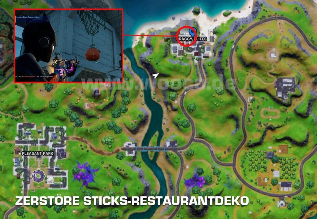 Sticks Restaurantdeko Fortnite Map
