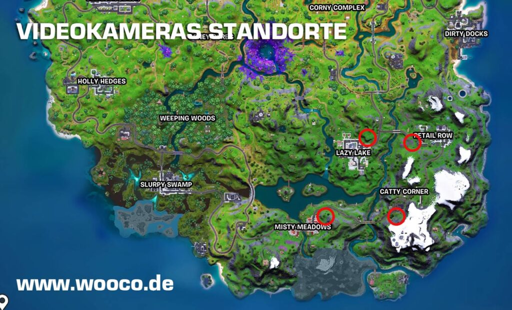 Videokameras Fortnite Map