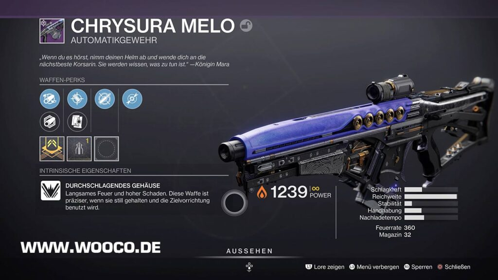 Chrysura Melo Destiny 2