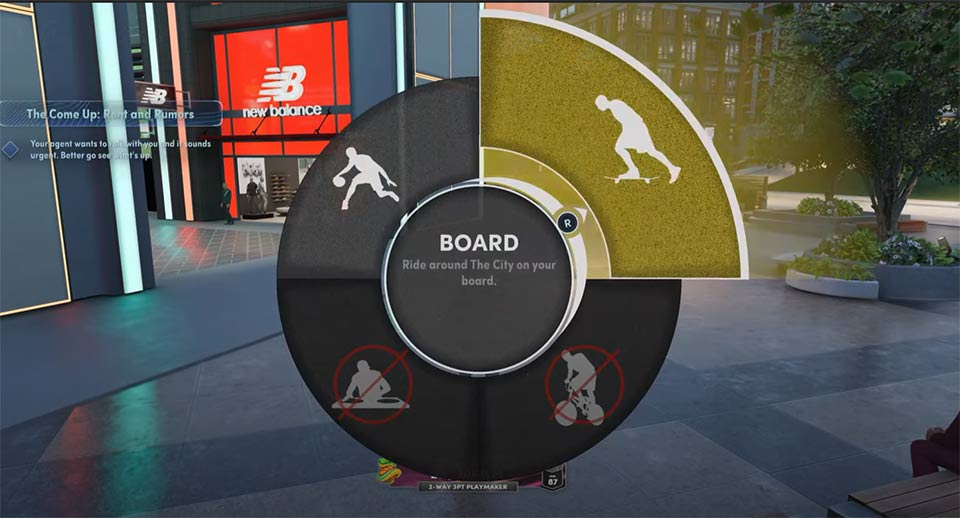 NBA 2K22 Skateboard in der Stadt