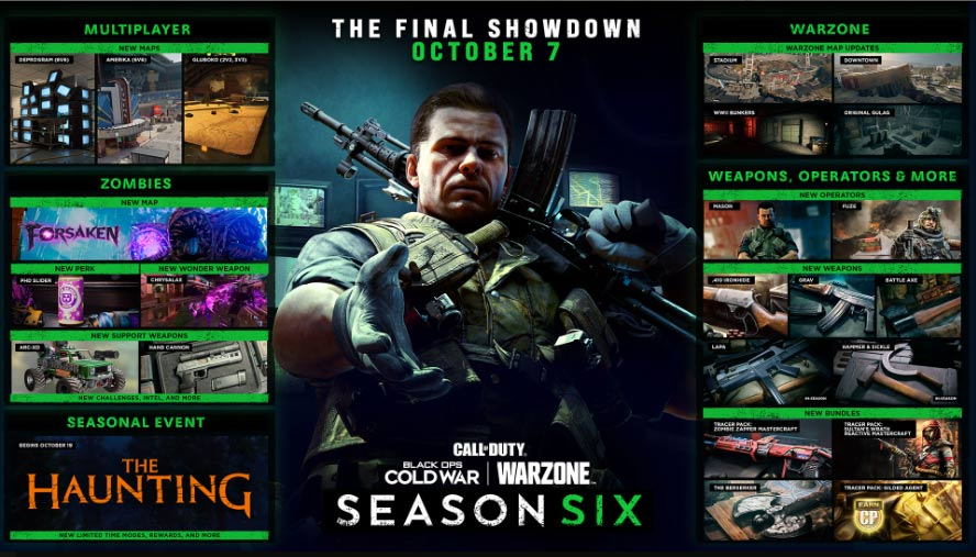 Black Ops Cold War Season 6 Inhalte