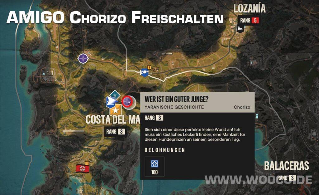 Chorizo Freischalten in FC6