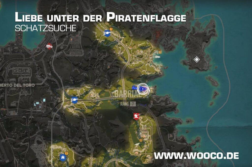 Liebe unter der Piratenflagge Map