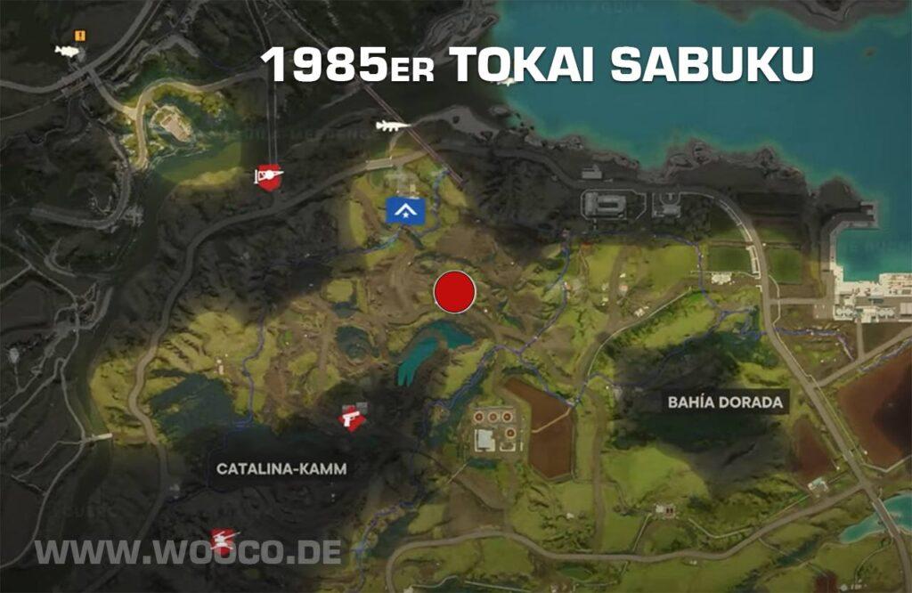 Tokai Sabuku Fahrzeug Map
